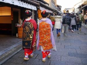 Elegant maiko in Kyoto